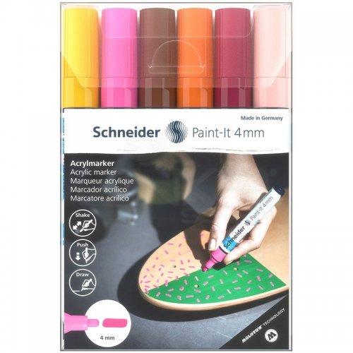 Schneider Akrilik Marker Kalem 320 4mm Set 3 6lı