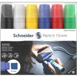 Schneider - Schneider Akrilik Marker Kalem 330 15mm Set 1 6lı