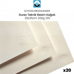 Schoellershammer - Schoellershammer Durex Teknik Resim Kağıdı 25x35cm 200g 20li