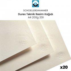 Schoellershammer - Schoellershammer Durex Teknik Resim Kağıdı A4 200g 20li