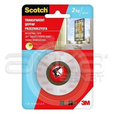 Scotch Çift Taraflı Şeffaf Bant 19mm x 1,5 m
