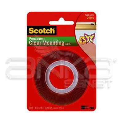 Scotch Çift Taraflı Şeffaf Montaj Bandı 25,4mm x 1,51 m