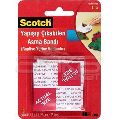 Scotch Yapışıp Çıkabilen Kare Asma Bandı 16 Adet