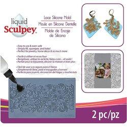 Sculpey - Sculpey Lace Silicone Mold Dantelli Model Kalıbı 2 Parça APM56