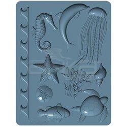 Sculpey - Sculpey Oven Safe Silicone Mold Sea Life 2 Parça APM61 (1)