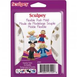 Sculpey - Sculpey Flexible Push Mold Esnek Model Kalıbı Pushmold Aile APM04