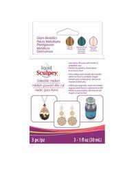 Sculpey - Sculpey Sıvı Polimer Kil 3lü Set 3x30ml Glam Metallics ALSGLM1