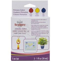 Sculpey - Sculpey Sıvı Polimer Kil 3lü Set 3x30ml Primary Colors ALSPRI1