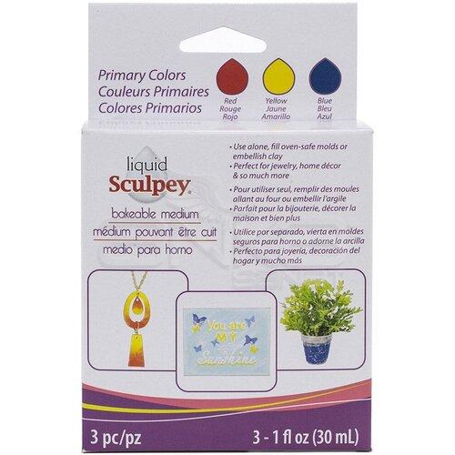 Sculpey Sıvı Pişmiş Kil 3lü Set 3x30ml Primary Colors ALSPRI1
