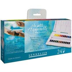 Sennelier - Sennelier Aquarelle Sulu Boya 24lü Tablet 131681 (1)