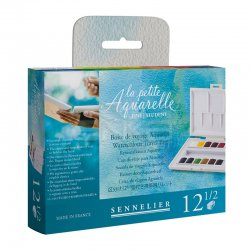 Sennelier - Sennelier Aquarelle Sulu Boya Seyahat Seti 12li Tablet N131682.00 (1)