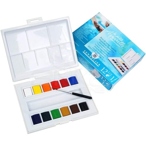 Sennelier Aquarelle Tablet Sulu Boya Seti 12li Defterli