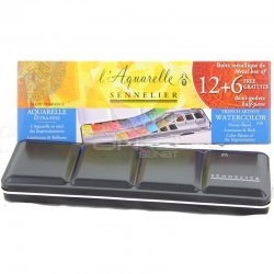 Sennelier - Sennelier Artist Sulu Boya Setleri 12+6 Yarım Tablet (1)