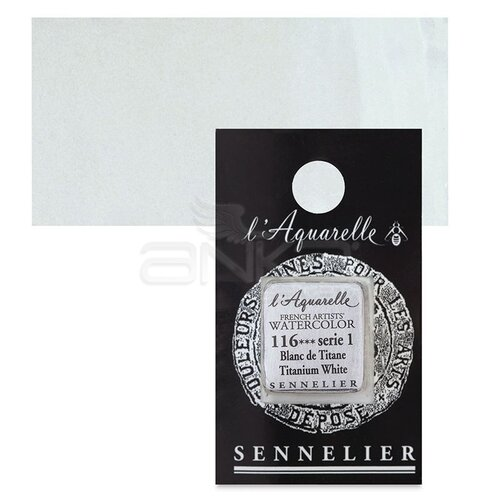 Sennelier Artist Tam Tablet Sulu Boya Yedek Seri 1 No:116 Titanium White - 116 Titanium White
