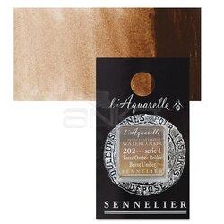 Sennelier - Sennelier Artist Tam Tablet Sulu Boya Yedek Seri 1 No:202 Burnt Umber