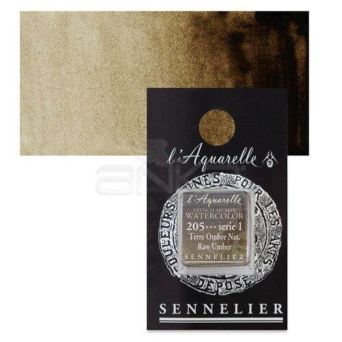 Sennelier Artist Tam Tablet Sulu Boya Yedek Seri 1 No:205 Raw Umber - 205 Raw Umber