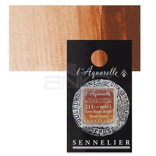 Sennelier Artist Tam Tablet Sulu Boya Yedek Seri 1 No:211 Burnt Sienna - 211 Burnt Sienna