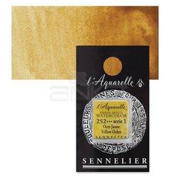 Sennelier - Sennelier Artist Tam Tablet Sulu Boya Yedek Seri 1 No:252 Yellow Ochre