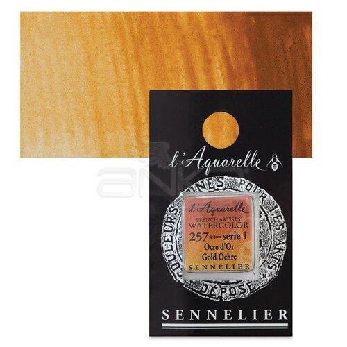 Sennelier Artist Tam Tablet Sulu Boya Yedek Seri 1 No:257 Gold Ochre - 257 Gold Ochre