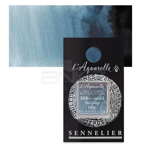 Sennelier Artist Tam Tablet Sulu Boya Yedek Seri 1 No:308 Indigo - 308 Indigo