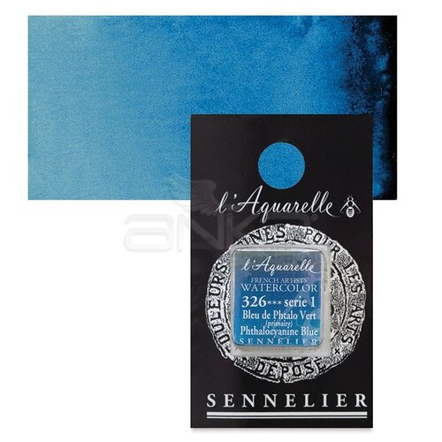 Sennelier Artist Tam Tablet Sulu Boya Yedek Seri 1 No:326 Phthalocyanine Blue - 326 Phthalocyanine Blue