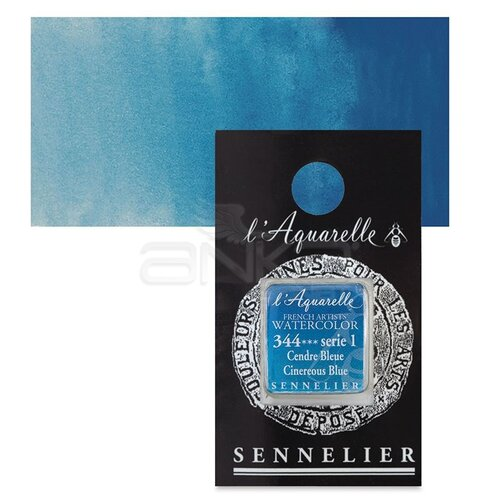 Sennelier Artist Tam Tablet Sulu Boya Yedek Seri 1 No:344 Cinereous Blue - 344 Cinereous Blue