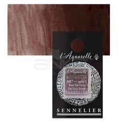 Sennelier - Sennelier Artist Tam Tablet Sulu Boya Yedek Seri 1 No:407 Van Dyck Brown