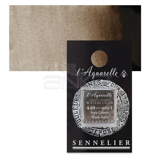 Sennelier Artist Tam Tablet Sulu Boya Yedek Seri 1 No:440 Warm Sepia - 440 Warm Sepia