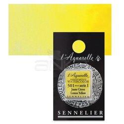 Sennelier - Sennelier Artist Tam Tablet Sulu Boya Yedek Seri 1 No:501 Lemon Yellow