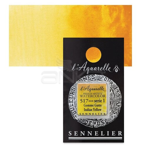 Sennelier Artist Tam Tablet Sulu Boya Yedek Seri 1 No:517 Indian Yellow - 517 Indian Yellow