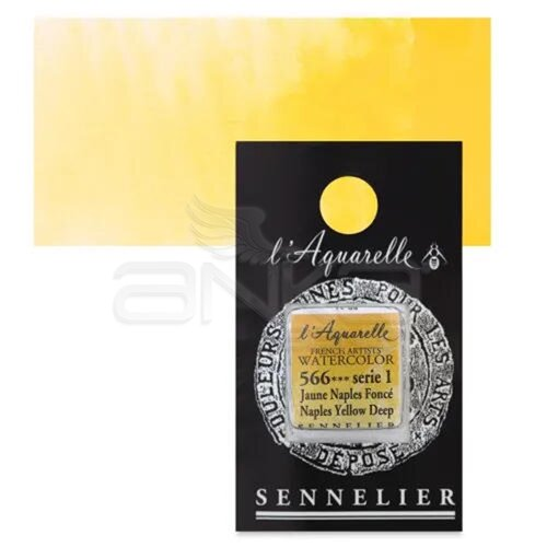 Sennelier Artist Tam Tablet Sulu Boya Yedek Seri 1 No:566 Naples Yellow Deep - 566 Naples Yellow Deep