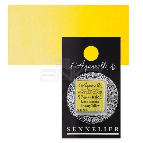 Sennelier Artist Tam Tablet Sulu Boya Yedek Seri 1 No:574 Primary Yellow - 574 Primary Yellow