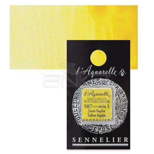 Sennelier Artist Tam Tablet Sulu Boya Yedek Seri 1 No:587 Yellow Sophie - 587 Yellow Sophie