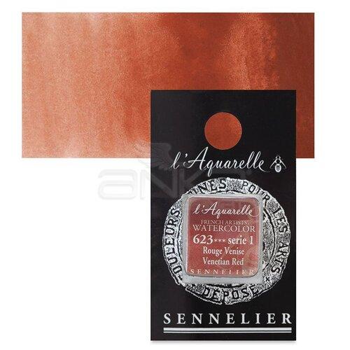 Sennelier Artist Tam Tablet Sulu Boya Yedek Seri 1 No:623 Venetian Red - 623 Venetian Red