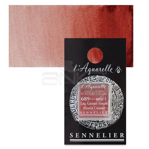 Sennelier Artist Tam Tablet Sulu Boya Yedek Seri 1 No:689 Alizarin Crimson - 689 Alizarin Crimson