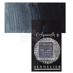 Sennelier - Sennelier Artist Tam Tablet Sulu Boya Yedek Seri 1 No:703 Paynes Grey