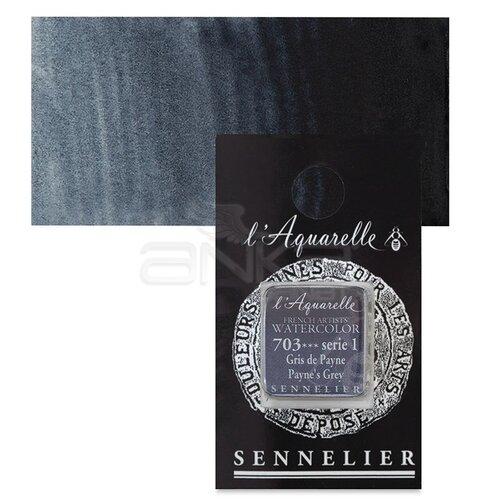 Sennelier Artist Tam Tablet Sulu Boya Yedek Seri 1 No:703 Paynes Grey - 703 Payne's Grey