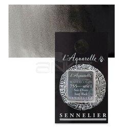 Sennelier - Sennelier Artist Tam Tablet Sulu Boya Yedek Seri 1 No:755 Lamp Black
