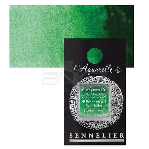 Sennelier Artist Tam Tablet Sulu Boya Yedek Seri 1 No:809 Hookers Green - 809 Hooker's Green