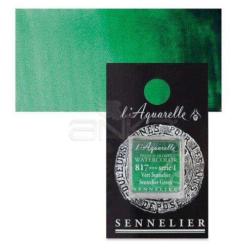 Sennelier Artist Tam Tablet Sulu Boya Yedek Seri 1 No:817 Sennelier Green - 817 Sennelier Green
