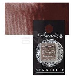 Sennelier - Sennelier Artist Tam Tablet Sulu Boya Yedek Seri 1 No:919 Caput Mortum