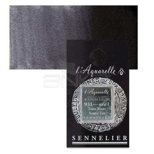 Sennelier Artist Tam Tablet Sulu Boya Yedek Seri 1 No:931 Neutral Tint - 931 Neutral Tint