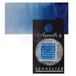 Sennelier - Sennelier Artist Tam Tablet Sulu Boya Yedek Seri 2 No:312 Ultramarine Light