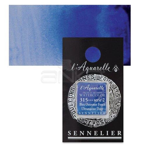 Sennelier Artist Tam Tablet Sulu Boya Yedek Seri 2 No:315 Ultramarine Deep - 315 Ultramarine Deep