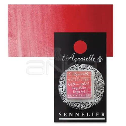 Sennelier Artist Tam Tablet Sulu Boya Yedek Seri 2 No:619 Bright Red - 619 Bright Red