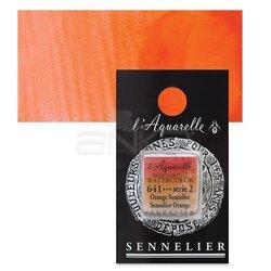 Sennelier - Sennelier Artist Tam Tablet Sulu Boya Yedek Seri 2 No:641 Sennelier Orange