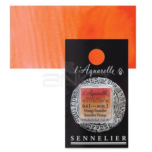 Sennelier Artist Tam Tablet Sulu Boya Yedek Seri 2 No:641 Sennelier Orange - 641 Sennelier Orange