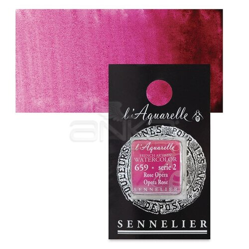 Sennelier Artist Tam Tablet Sulu Boya Yedek Seri 2 No:659 Opera Rose - 659 Opera Rose