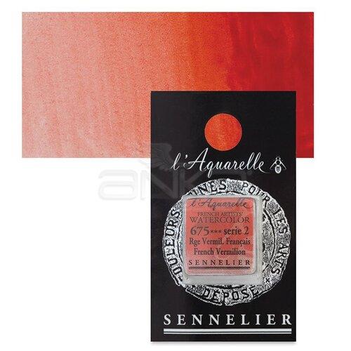 Sennelier Artist Tam Tablet Sulu Boya Yedek Seri 2 No:675 French Vermilion - 675 French Vermilion