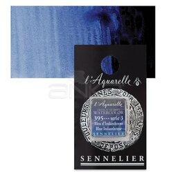 Sennelier - Sennelier Artist Tam Tablet Sulu Boya Yedek Seri 3 No:395 Blue Indanthrene